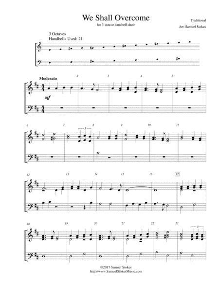 We Shall Overcome - for 3-octave handbell choir