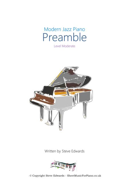 Preamble - Solo Jazz/Cocktail Piano