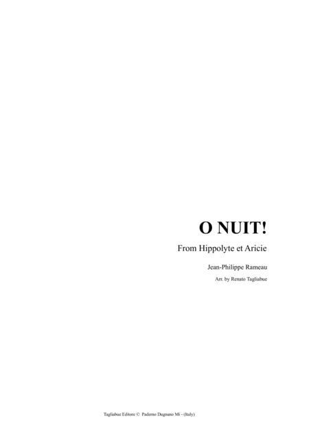 RAMEAU - La Nuit - for String Quartet - With Parts