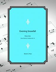 Evening Snowfall - original piano solo