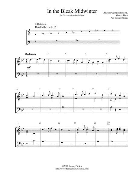 In the Bleak Midwinter - for 2-octave handbell choir