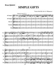 Simple Gifts Shaker Hymn for Brass Quintet