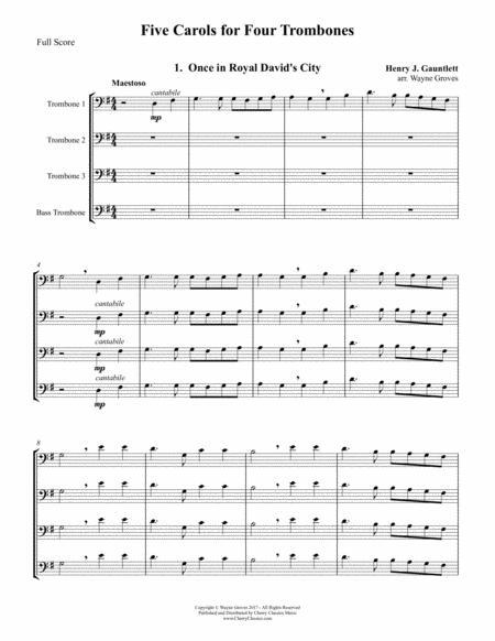 Four Christmas Carols for Four Trombones