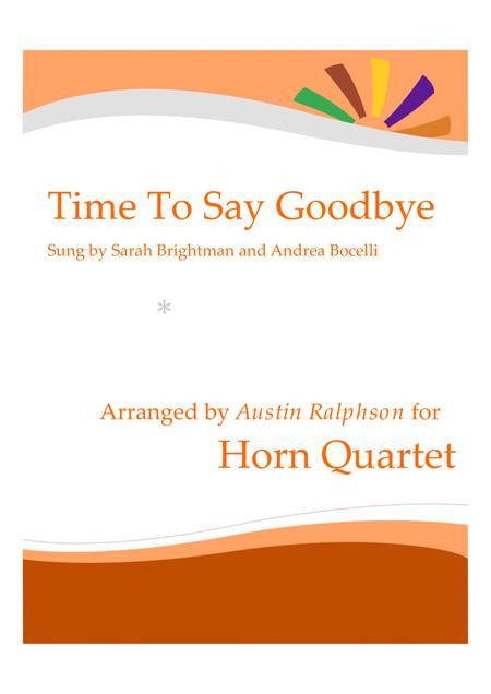 Time To Say Goodbye (Con te partirò) - horn quartet