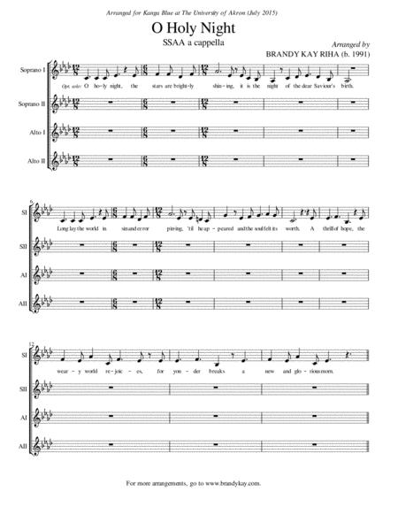 O Holy Night (SSAA a cappella)