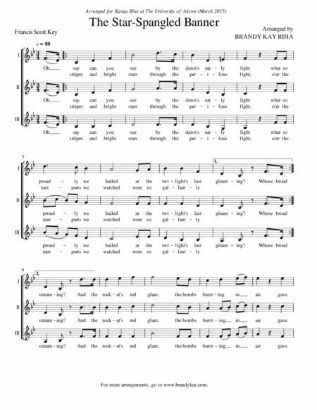 The Star-Spangled Banner / The National Anthem (SSA a cappella)