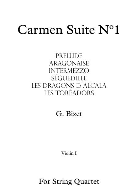 Carmen Suite Nº1 - G. Bizet - For String Quartet (Full Parts)