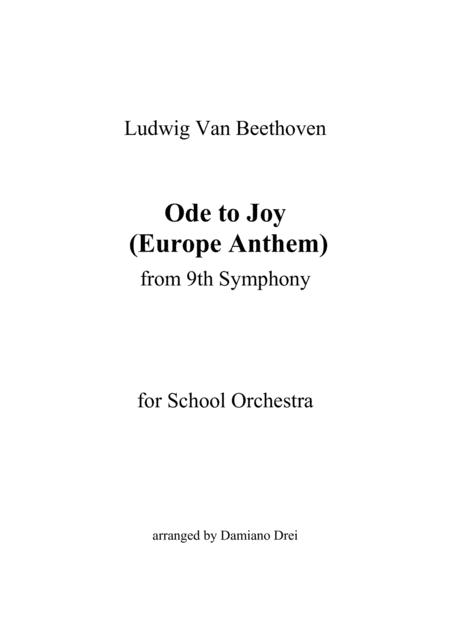 Ode to Joy (Europe Anthem) - Flexible instrumentation