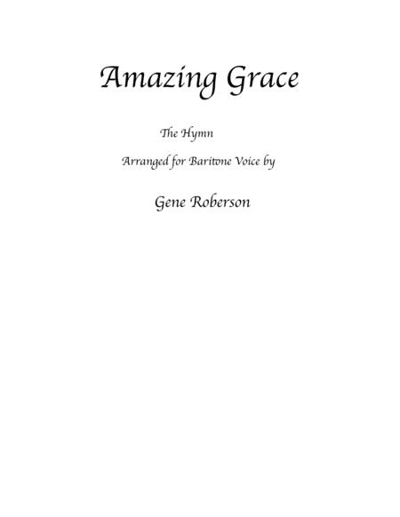 Amazing Grace Vocal Baritone