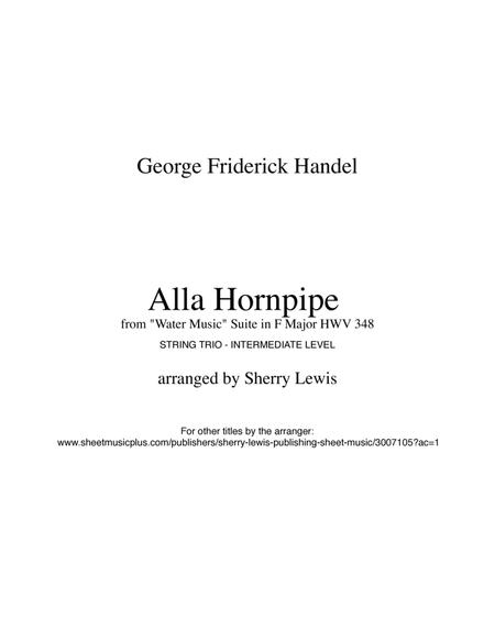 Hornpipe from Water Music by G.F. Handel for STRING TRIO