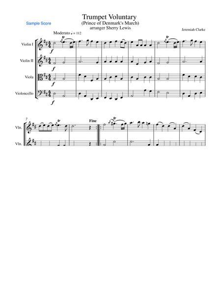 Trumpet Voluntary (Prince of Denmark) STRING QUARTET (for string quartet)