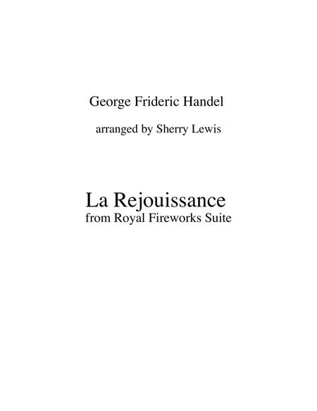 La Réjouissance from Royal Fireworks STRING TRIO (for string trio)