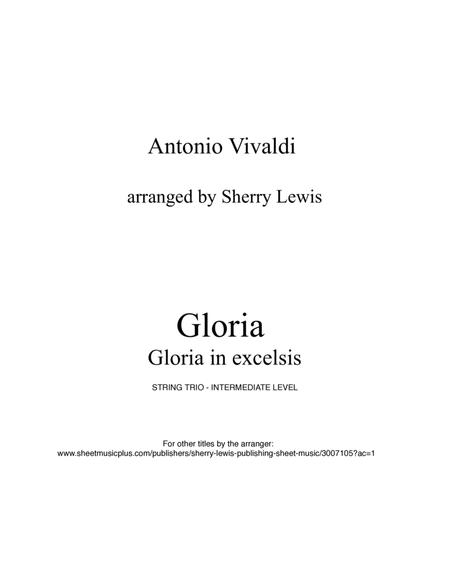 Gloria in Excelsis by A. Vivaldi for STRING TRIO