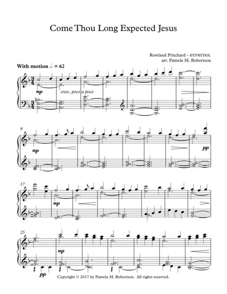 Come Thou Long Expected Jesus - Piano Solo
