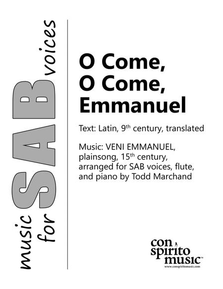 O Come, O Come, Emmanuel - SAB voices, piano, flute