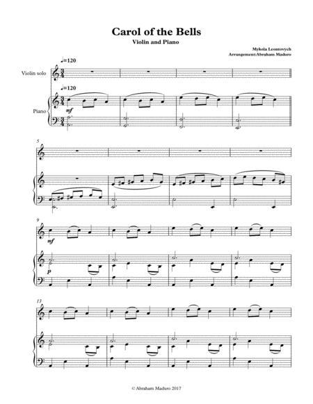 Carol of the Bells Violin and Piano