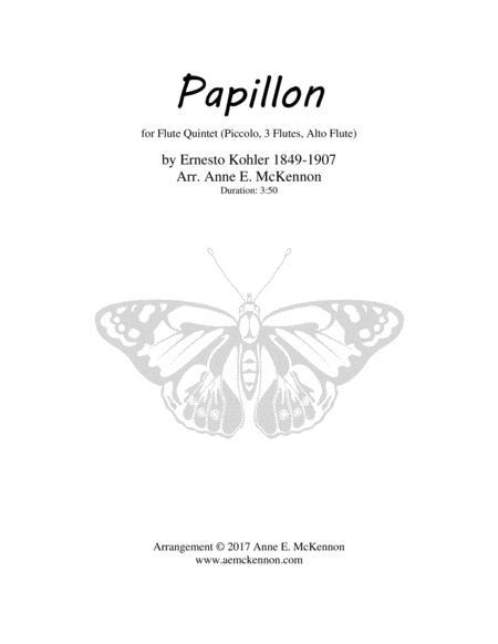 Papillon Flute Quintet (Picc, 3 Fl, Alto Fl)