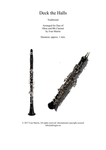 Deck the Halls - Duet for Oboe (or Flute) and Clarinet