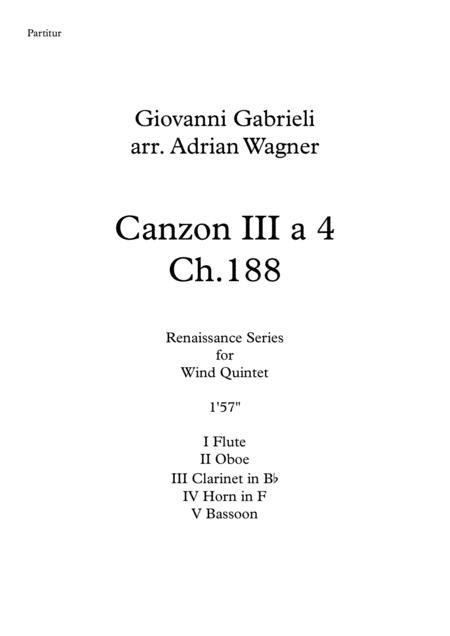 Canzon III a 4 Ch.188 (Giovanni Gabrieli) Wind Quintet arr. Adrian Wagner