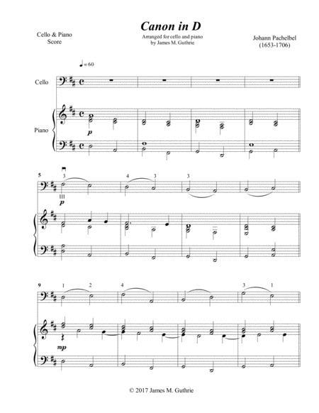 Pachelbel: Canon for Cello & Piano Advanced Version