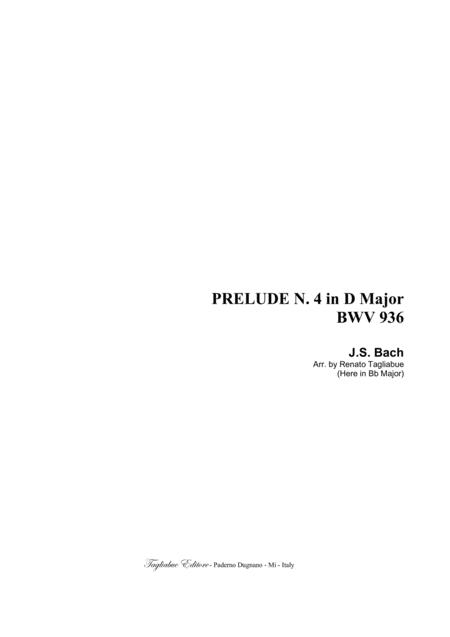 BACH J.S. - PRELUDE N. 4 in D Major -   BWV 936 - Arr. for SAB Choir in vocalization
