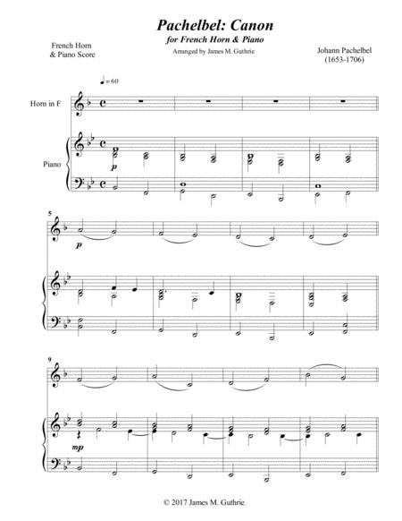 Pachelbel: Canon for French Horn & Piano