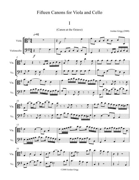 15 Canons for Viola and Cello