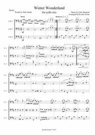 Winter Wonderland for cello trio