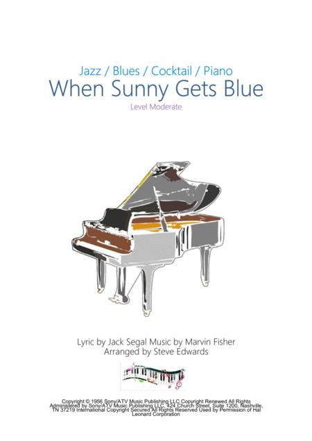 When Sunny Gets Blue - Moderate Piano Solo