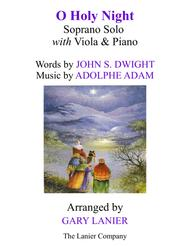 O HOLY NIGHT (Soprano Solo with Viola & Piano - Score & Parts included)