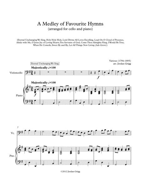 A Medley of Favourite Hymns (cello and piano)