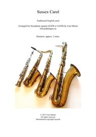 Sussex Carol - Saxophone Quartet