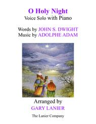 O HOLY NIGHT (Voice Solo with Piano - Score & Voice Part included)