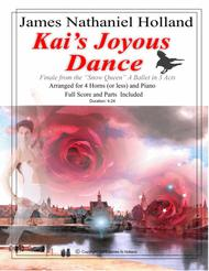 Kai's Joyous Dance: From the The Snow Queen Ballet, Arranged for 4 Horns (or Less) and Piano
