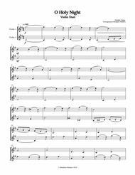 O holy Night Violin  Duet