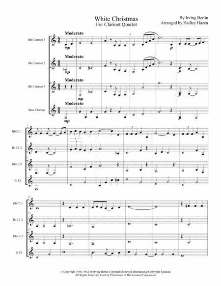 White Christmas for Clarinet Quartet