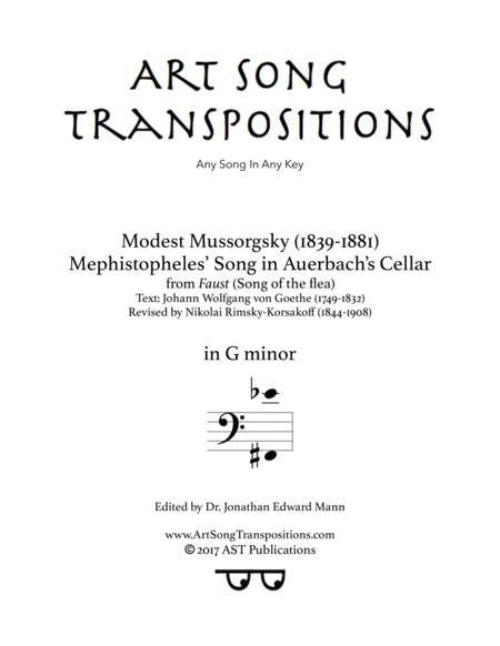 Song of the flea (G minor, bass clef)