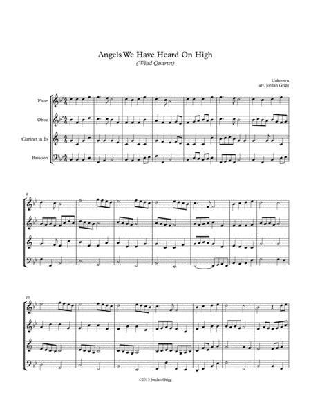 Angels We Have Heard On High (Wind Quartet)