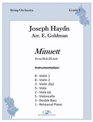 Download Minuett (From Hob IX:Anh) Sheet Music By Franz