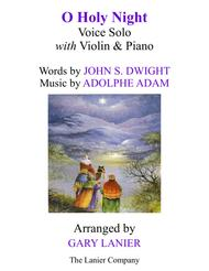 O HOLY NIGHT (Voice Solo with Violin & Piano - Score & Parts included)