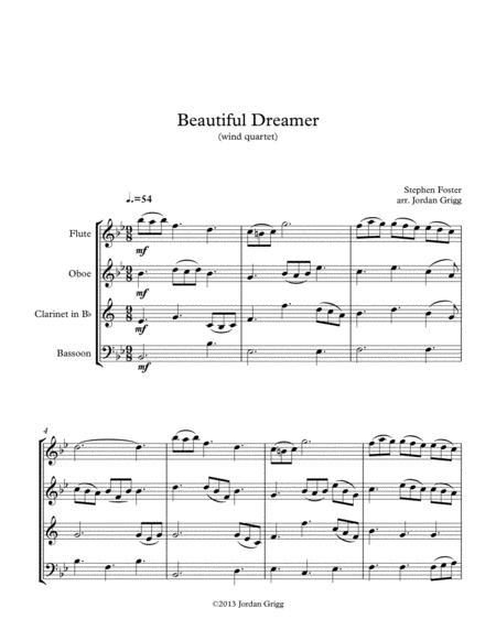 Beautiful Dreamer (wind quartet)
