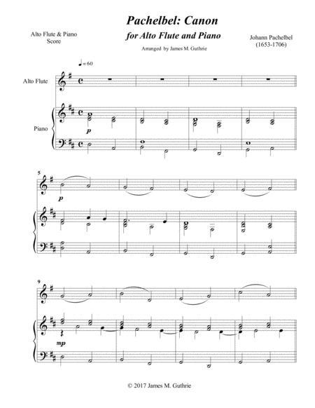 Pachelbel: Canon for Alto Flute & Piano
