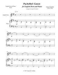 Pachelbel: Canon for English Horn & Piano