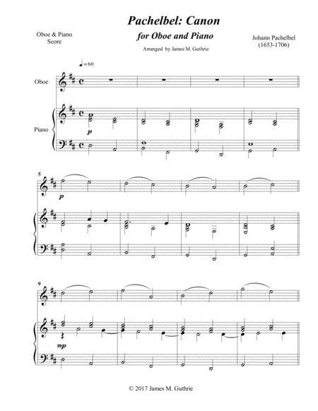 Pachelbel: Canon for Oboe & Piano