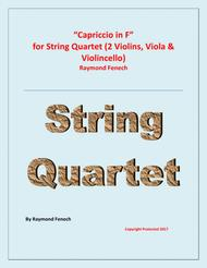 Capriccio in F - For String Quartet (2 Violins; Viola; Violoncello)