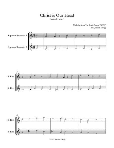 Christ is Our Head (recorder duet)