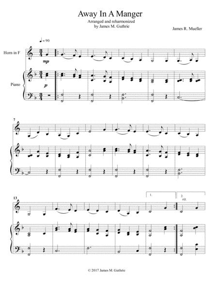 Away In A Manger: for French Horn & Piano