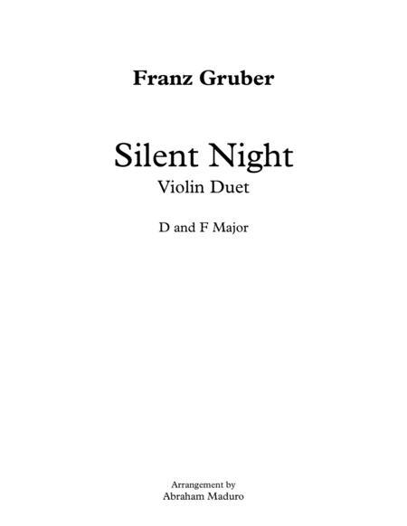 Silent Night Violin Duet
