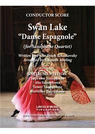 Tchaikovsky – Danse Espagnole (Spanish Dance) from Swan Lake (for Saxophone Quartet SATB)