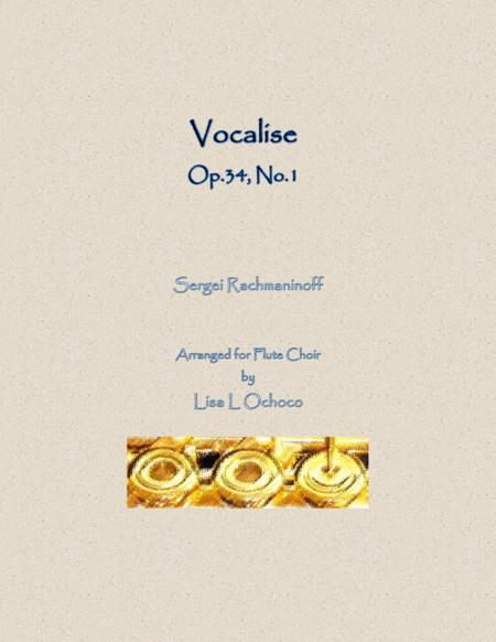 Vocalise Op.34, No.14 for Flute Choir